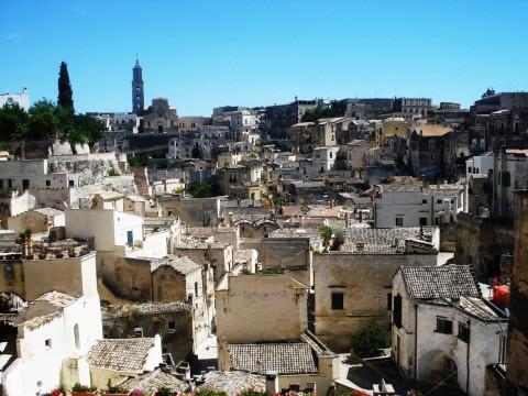Sasso Barisano dalla terrazza di Piazza Vittorio