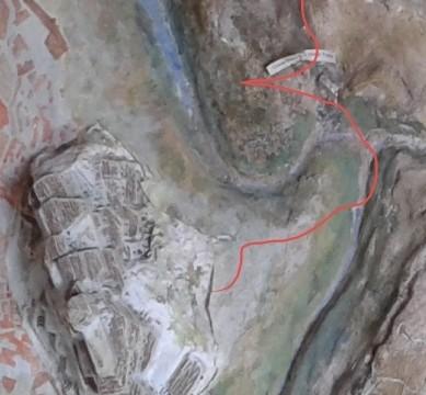 Il sentiero parte da Porta Pistola per arrivare dalla partte opposta del Canyon