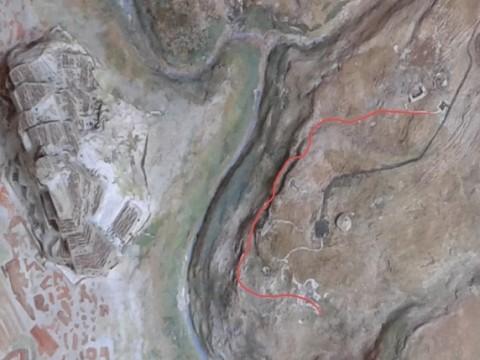 Il percoso in Rosso rappresenta la piccola escursione che verrà realizzata.